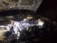 В Запорожской области сгорел гараж с автомобилем (фото)