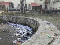В Запорожье фонтан превратили в место отдыха для наркоманов (фото)