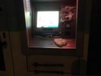 Ночью в Запорожье залили монтажной пеной российские банкоматы