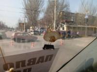 В Запорожье легковушку столкнулась с трамваем – есть пострадавшие