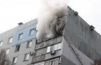 В запорожской многоэтажке из-за сильного ветра сгорели сразу две квартиры