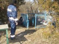 Житель Запорожской области скончался на кладбище