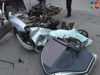 Житель Запорожской области погиб, врезавшись в грузовик с оборудованием известной певицы