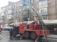 В центре Запорожья сгорела квартира и досталось кафе (Фото)