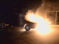 Ночью жителю Запорожья сожгли авто (Видео)