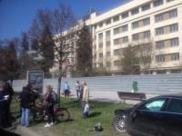 В центре Запорожья «Ягуар» вылетел на газон