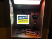 В Запорожье снова залили монтажной пеной банкоматы (Фото)
