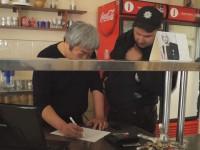 Экс-мэра Запорожья поздравили с Днем рождения, забросав его кафе фекалиями (Фото)