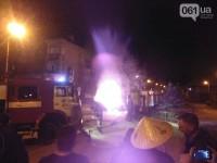 Возле запорожской мэрии сгорело авто