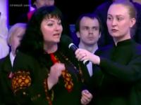 Лидер Антимайдана из Запорожской области пришла на российскую программу в вышивание (Видео)