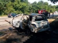 На Хортице в авто заживо сгорел водитель (Фото)