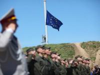 В честь безвиза запорожцы подняли флаг ЕС на самом высоком флагштоке в стране