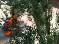 На Малом рынке выгорела легковушка, пока владелица ходила за покупками (Фото)