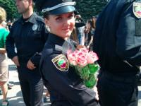 Среди новобранцев  патрульной полиции Запорожья присягу приняли трое военных