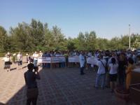 В Запорожской области мэр не вышел к митингующим медикам
