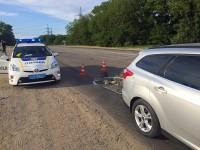 Запорожский общественник угодил в аварию из-за ямы