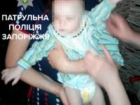Пьяная запорожанка уснула на полу под крики маленького ребенка