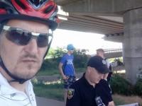 Велосипедисты задержали на Хортице поджигателей