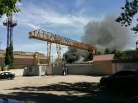 На запорожском предприятии произошел масштабный пожар