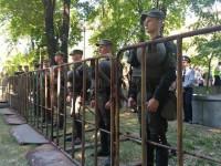 Немногочисленный митинг «Полка победы» прошел под усиленной охраной (Фото)