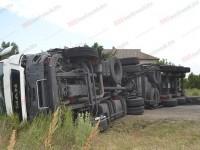 На запорожской трассе «китаец» врезался в грузовик (Видео)