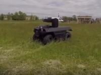 На запорожском полигоне испытали «Робота» с пулеметом (Видео)