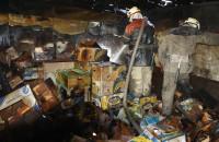 В Запорожье сгорел заброшенный киоск (Фото)