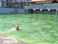 В Запорожье детвора спасается от жары, купаясь в фонтане (Фото)