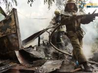 В Запорожье сгорел строительный вагончик (Фото)