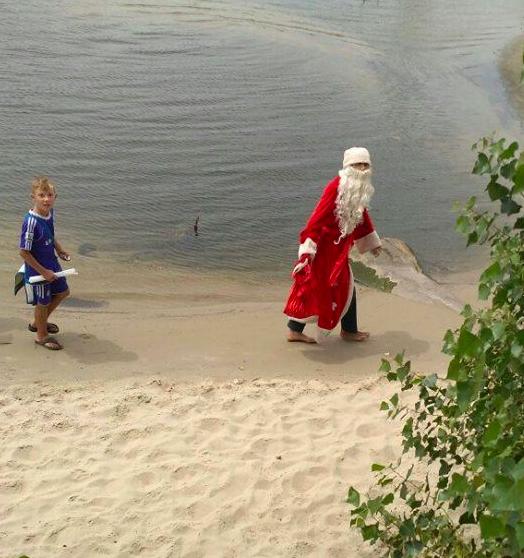 Дед мороз и лето по-запорожски (фото)
