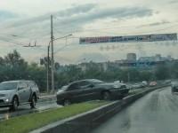 ДТП на дамбе:  «Daewoo Sens» вылетел на разделительную полосу