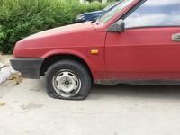 Депутату из Запорожской области повредили авто (Фото)