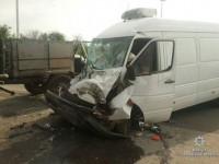 В Запорожской области «ГАЗ» столкнулся  с грузовым микроавтобусом – двое в больнице