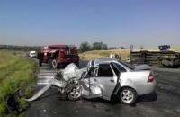 Опубликованы фото аварии под Запорожьем, в которой погиб водитель и пострадали 9 человек