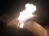 На запорожском курорте обнаружили источник с горящей водой (Видео)