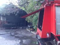 На Хортице сгорел гостевой домик (Фото)