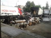 На складе «Новой почты» сгорел грузовик с посылками на несколько миллионов (Фото)