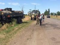 На запорожской трассе женщина на легковушке врезалась в военный «КрАЗ» (Фото)