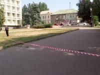 В центре Запорожья из-за подозрительной сумки оцепили участок (Видео)