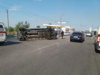 В сети появилось видео вчерашней аварии в маршруткой