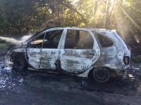 Под Запорожьем из-за горящего авто перекрыли участок трассы