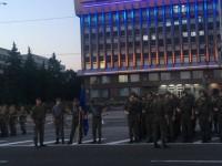 В Запорожье ради генеральной репетиции парада перекрыли проспект