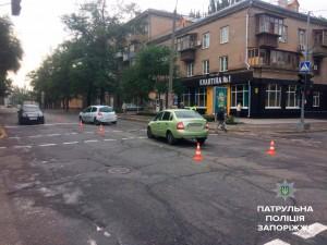 Напротив запорожского кафе сбили пешехода