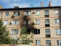 В пятиэтажке сгорели квартира и два соседних балкона (Фото)