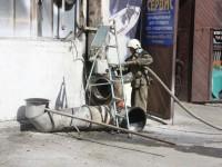В Запорожье горел покрасочный цех (Фото)