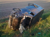 По дороге в Киев перевернулась машина с запорожскими общественниками