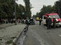 В Запорожье на место аварии вызвали пожарную машину – есть пострадавшие