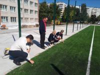 Депутаты от «Самопомощи» проинспектировали строительство новых стадионов (фото)