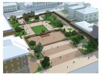 В мэрии показали, как будет выглядеть после реконструкции сквер перед театром Магара