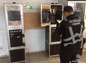 В центре Запорожья зал игровых автоматов работал под вывеской парикмахерской